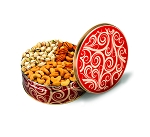 Red Swirl Tin